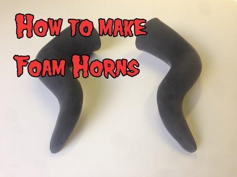 How To Make Foam Horns, Tutorial.