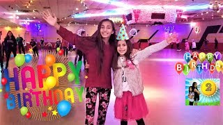 Deema's 8th birthday party! Roller Skate party