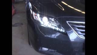 Оптика передняя Black Sonar Camry V40