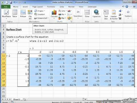 3D Plots in Excel