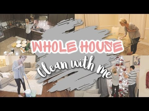 WHOLE HOUSE CLEAN WITH ME//COMPLETE DISASTER//CLEANING MOTIVATION 2019