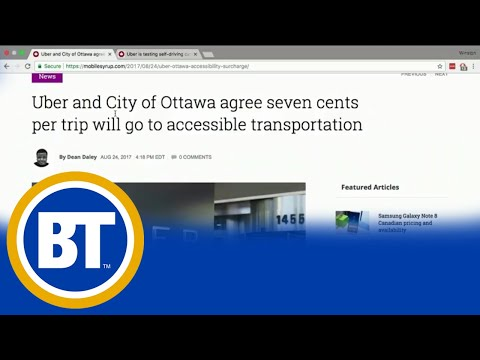 Ottawa and Uber partner to tackle accessible transportation
