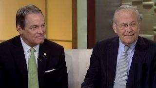 Rumsfeld and Col  Manion on the Travis Manion Foundation