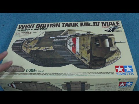 In-Box Review: Tamiya Mk IV Tank Male