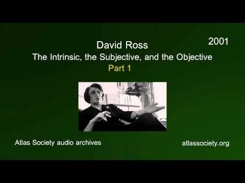 The Intrinsic, the Subjective, and the Objective (Part 1)