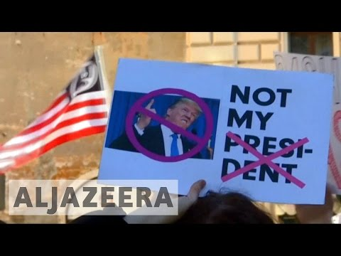 Women around the world protest against President Trump