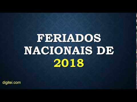 FERIADOS 2018 | LISTA DE FERIADOS NACIONAIS DO BRASIL EM 2018