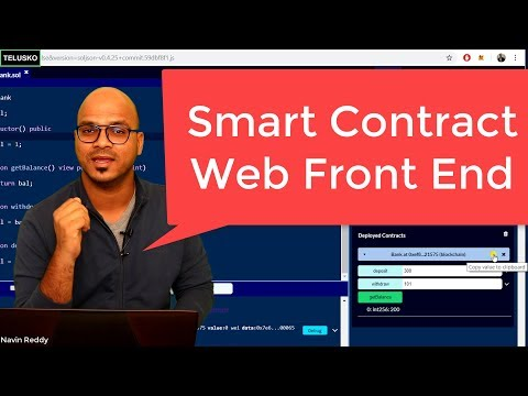 Smart Contract with Front End | Blockchain