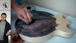 Applying Water-Based Aniline Dye | The Crazy Chinese Hollowbody Guitar Kit