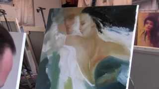 Научиться писать маслом в Москве, уроки живописи, курсы живописи, художник Сахаров