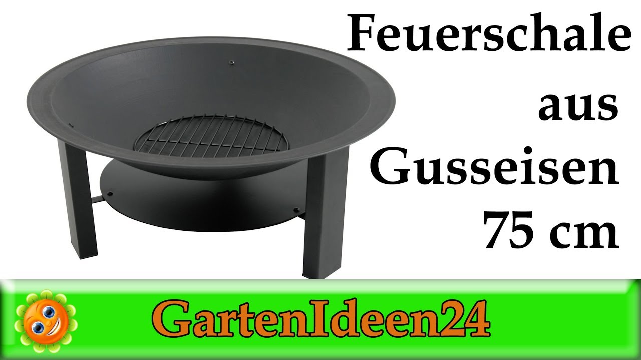 feuerschale gusseisen 75cm feuerschale die mobile feuerstelle im garten tipp von gartenideen24. Black Bedroom Furniture Sets. Home Design Ideas