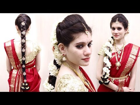 Indian Bridal Hairstyles | Wedding Hairstyles Step By Step | Bridal Bun and Bridal Plait Hairstyle
