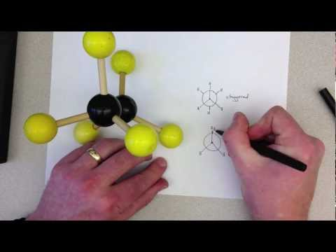 Ethane Conformations and Newman Projections