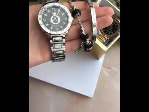 Женский набор часы и браслеты PANDORA