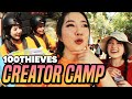 FUSLIE GOES TO 100 THIEVES CREATOR CAMP mp3
