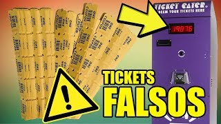 USANDO TICKETS FALSOS EN LAS MAQUINITAS | TICKETS INFINITOS FALSOS
