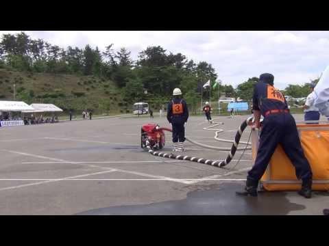 秋田県五城目町消防団第一分団小型ポンプ操法2013