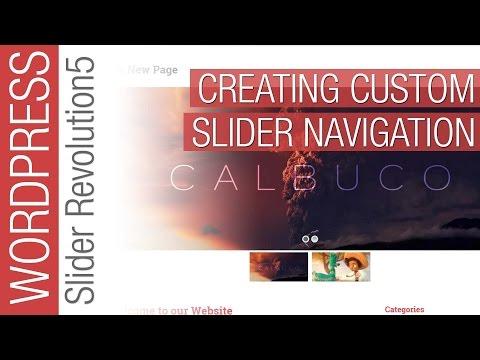 Customize your Navigation in Slider Revolution 5 for Wordpress