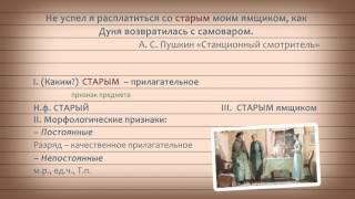 Русский 6 Морфологический разбор имени прилагательного