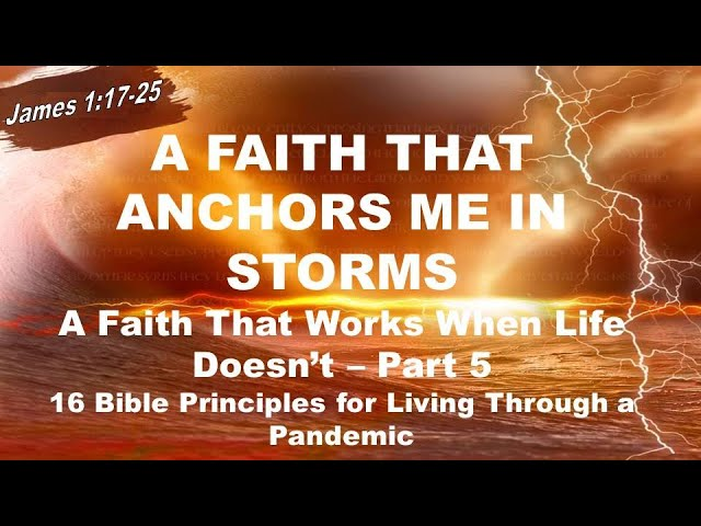 A Faith That Anchors Me in Storms