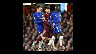 CHELSEA Players TRYING to STOP MESSI !!!