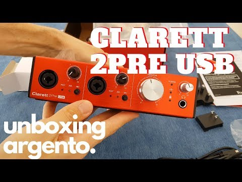 Focusrite Clarett 2pre USB // Unboxing en Español! [4K]