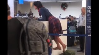 Woman Escorted From Florida Airport after Losing it