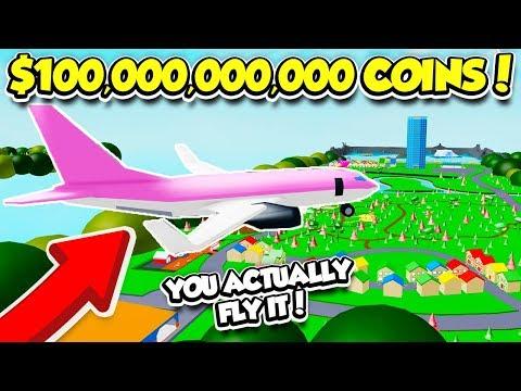 I BOUGHT THE $100,000,000,000 PLANE IN ICE CREAM VAN SIMULATOR!! (Roblox)