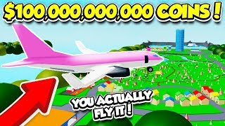 I BOUGHT THE $100,000,000,000 PLANE IN ICE CREAM VAN SIMULATOR!! (Roblox)