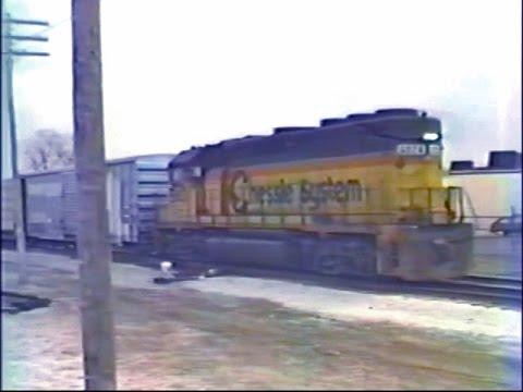 Trains of Lansing MI - March 1990