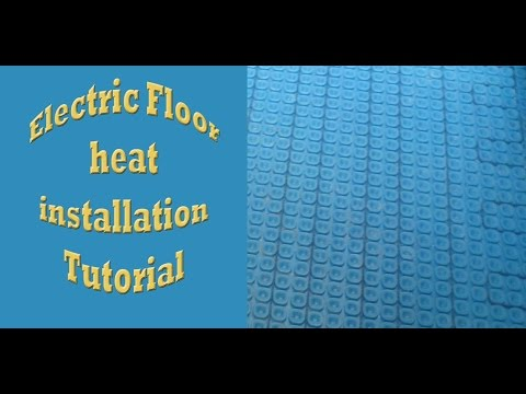 Electric floor heat installationProdeso heat with SunTouch Warm Wire Time lapse