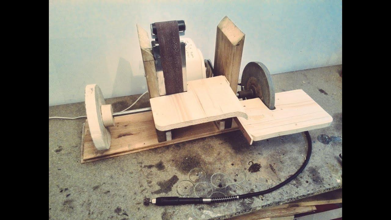 Homemade Sanding Station (4-in-1 rotary tool,grinder,belt ...