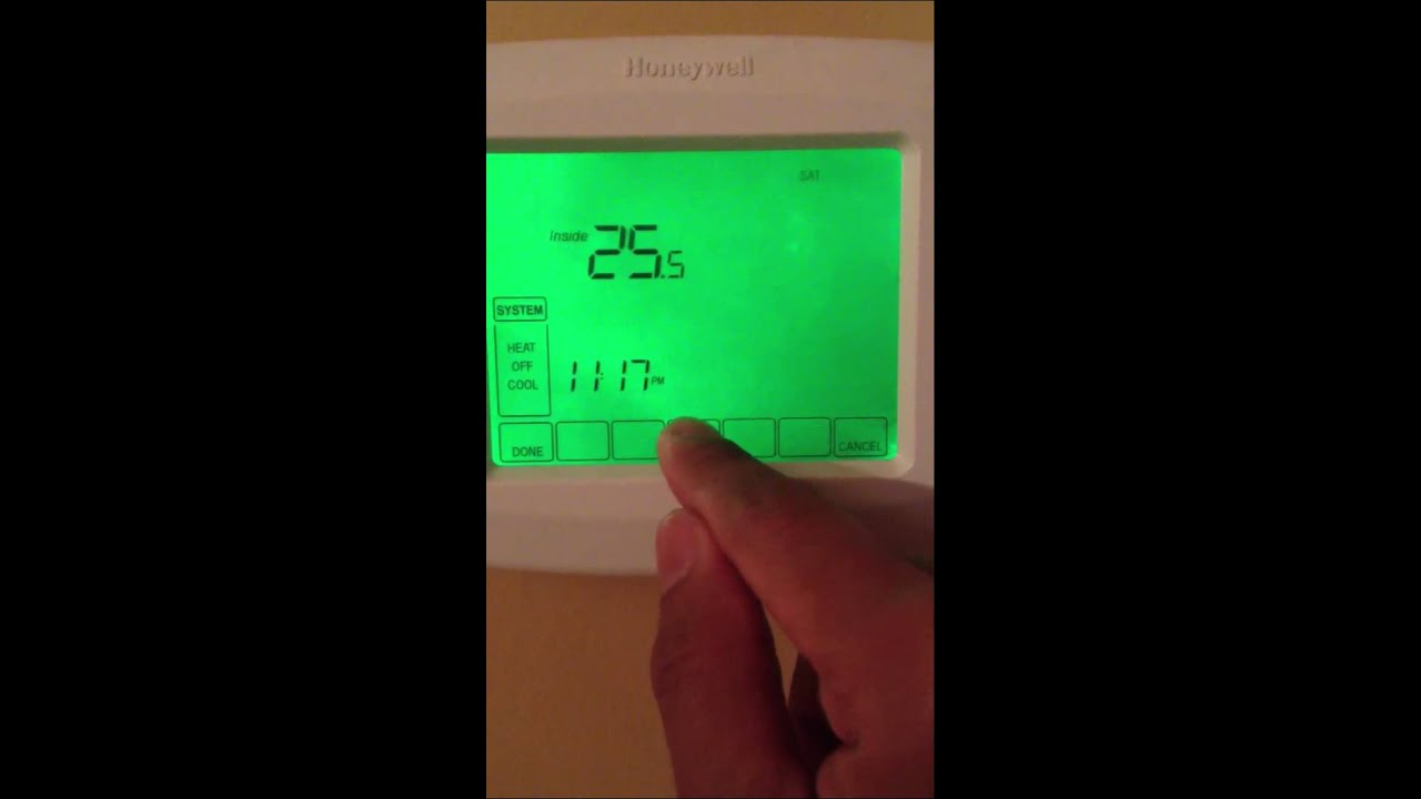 honeywell thermostat rth 8500 youtube rh youtube com