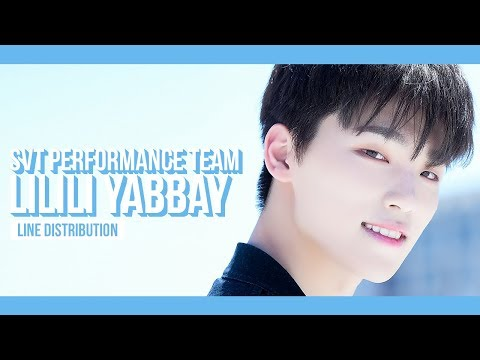 SEVENTEEN PERFORMANCE TEAM - LILILI YABBAY Line Distribution (Color Coded) | 세븐틴 퍼포먼스팀 - 13월의 춤