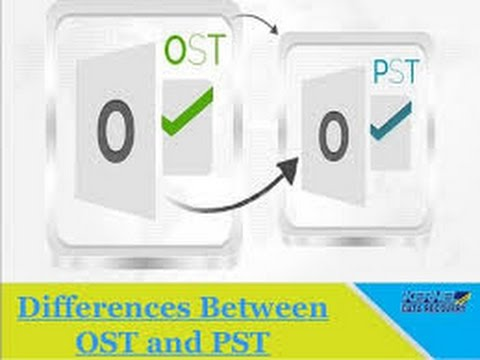 What is the difference between OST and PST files in Outlook