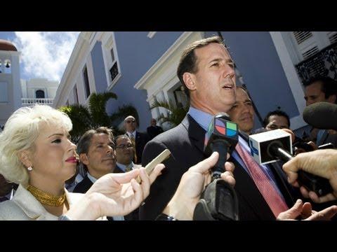 Rick Santorum stands by English language comment