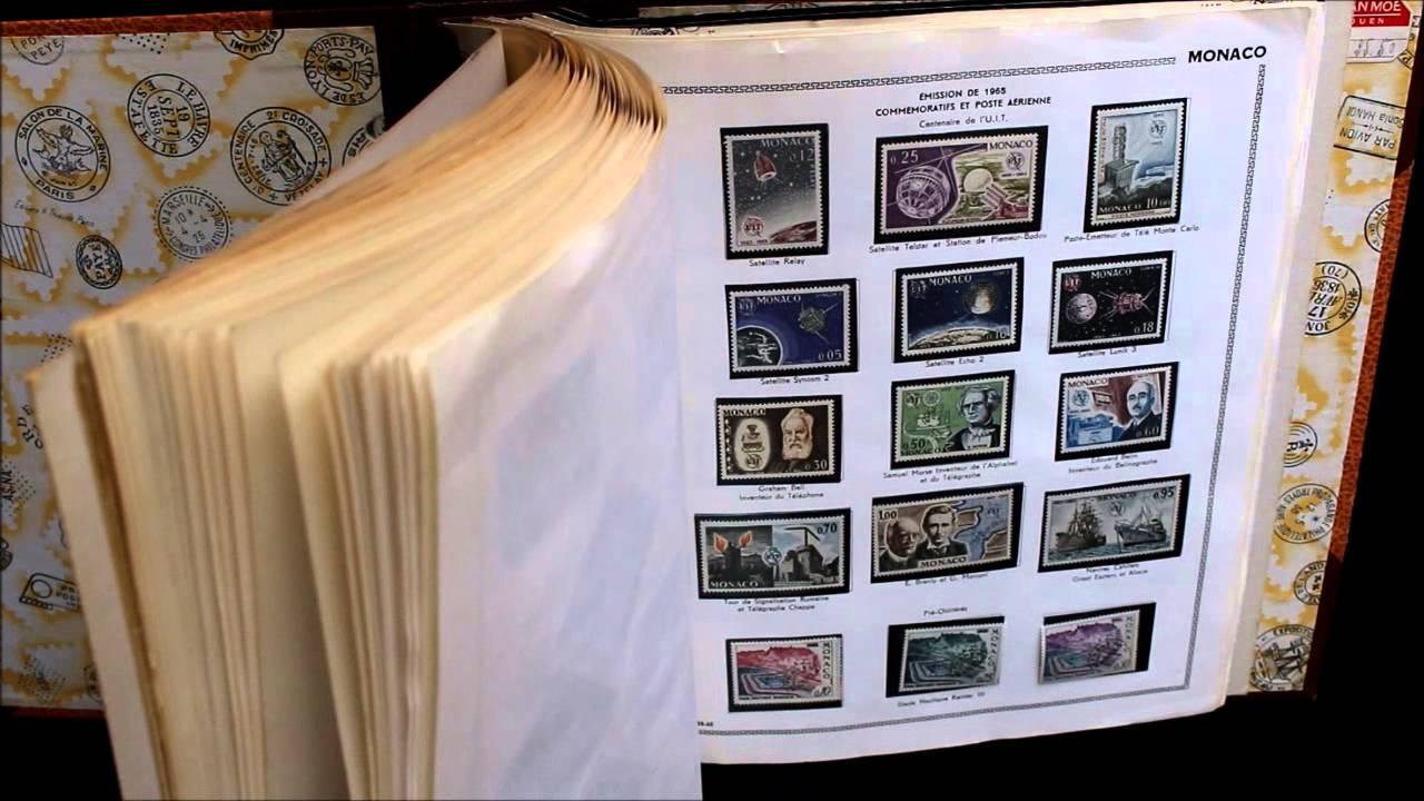collection timbres de monaco de 1920 1977 youtube. Black Bedroom Furniture Sets. Home Design Ideas