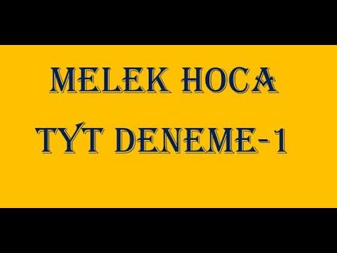 MELEK HOCA/TYT DENEME-1