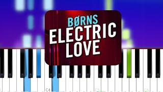 BØRNS - Electric Love (Piano tutorial)