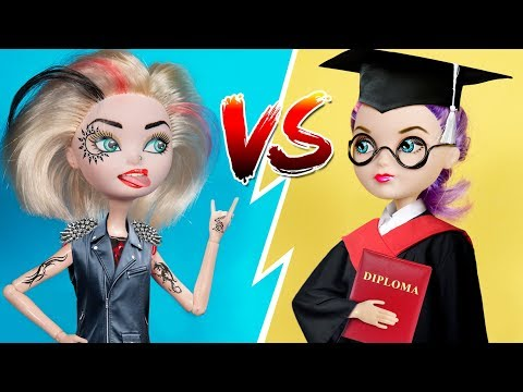 10 DIY Miniature School Supplies / Barbie Doll Hacks And Crafts
