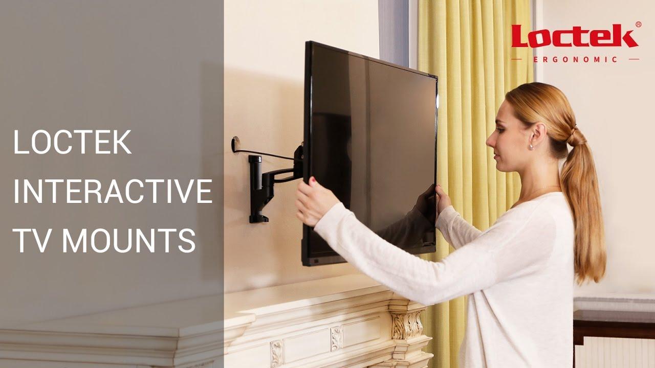 Loctek Height Adjustable Interactive Tv Mounts Full Motion Tv