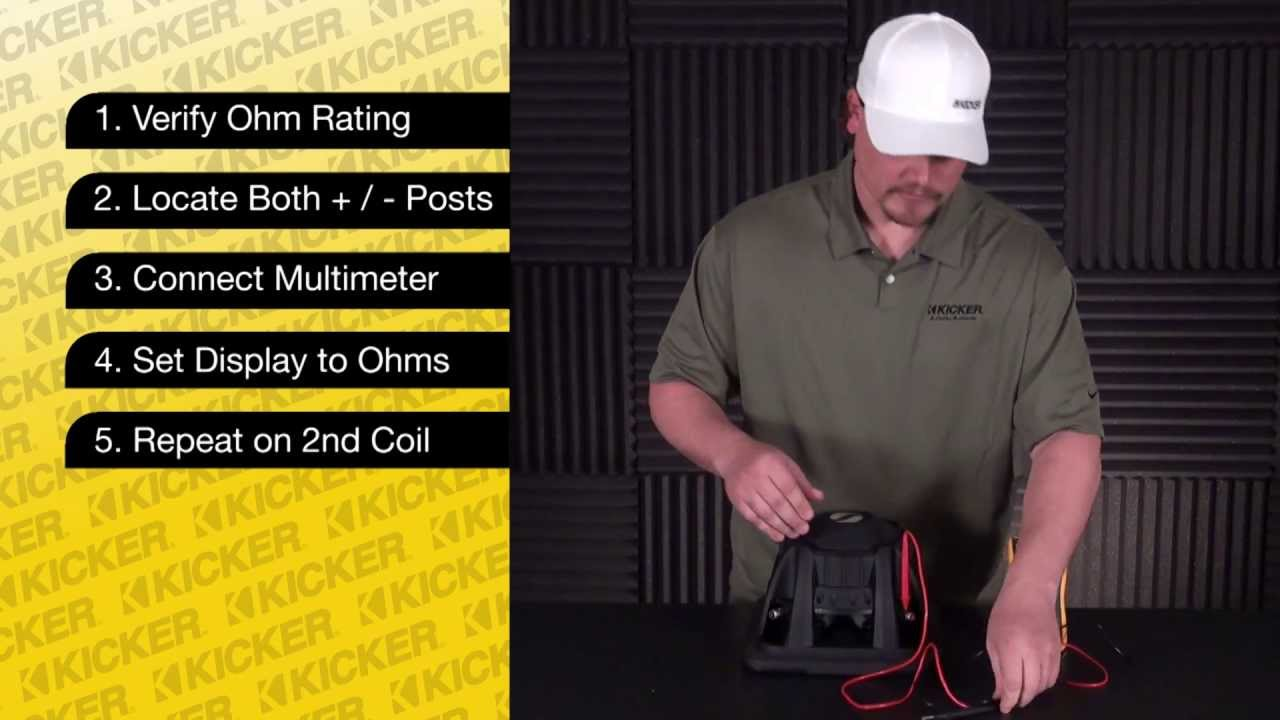 Subwoofer Tech Testing A Dual Voice Coil Sub With Multimeter Kicker Wiring Diagram Dvc