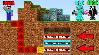 Minecraft Battle: NOOB vs PRO vs HACKER : SUPER TNT TRAP Challenge in Minecraft Animation