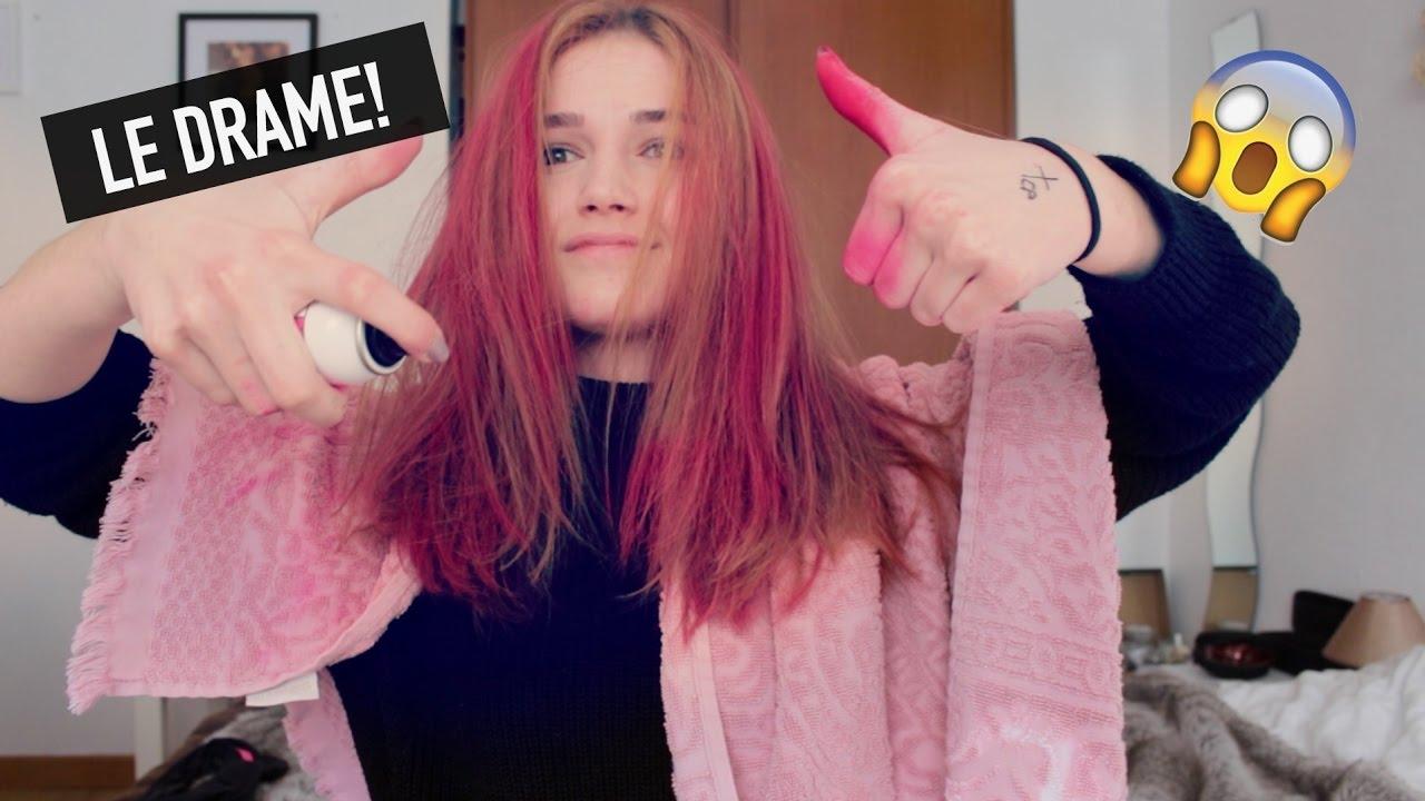 Je Me Teins Les Cheveux En Rose Youtube