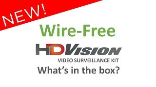 Unboxing the Wire-Free HDVision Video Surveillance Kit
