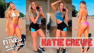KATIE CREWE Canadian ❀ Fitness Model ❀ - Effective Fat-Burning Exercise Buttocks, Legs, Abdomen🏋