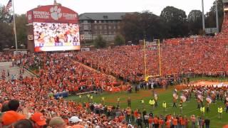 Clemson Tigers Entrance Memorial Stadium FSU Game