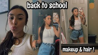 my everyday drugstore makeup look & hair | back to school 2019