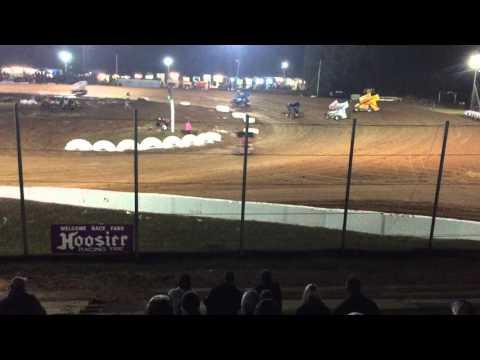 HOLY HAUD! Jac Haudenschild is Elbows WAY Up at I-30 Speedway!