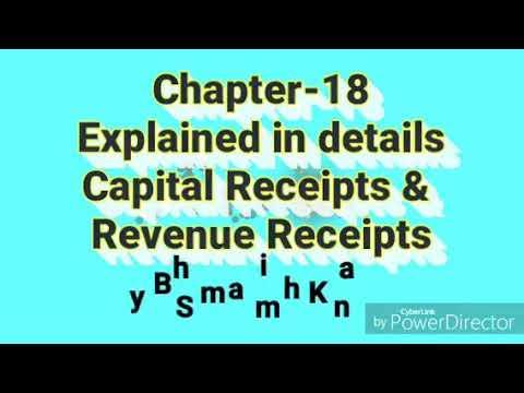 4/5   Explained Capital Receipts & Revenue Receipts   Class 12  